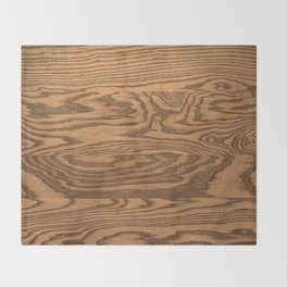 Wood 5, heavily grained wood Horizontal grain Throw Blanket