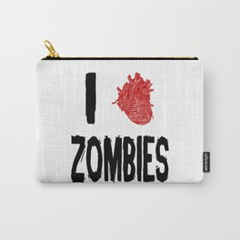 I Love Zombies with a Heart to replace the word Love Carry-All Pouch
