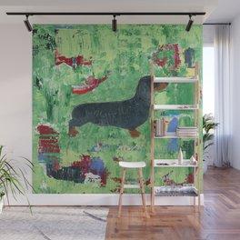 Dachshund Weiner Dog Painting Wall Mural
