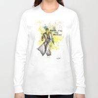 david tennant Long Sleeve T-shirts featuring Doctor Who 10th Doctor David Tennant by idillard