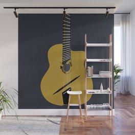 Acoustic Guitar illustration Wall Mural