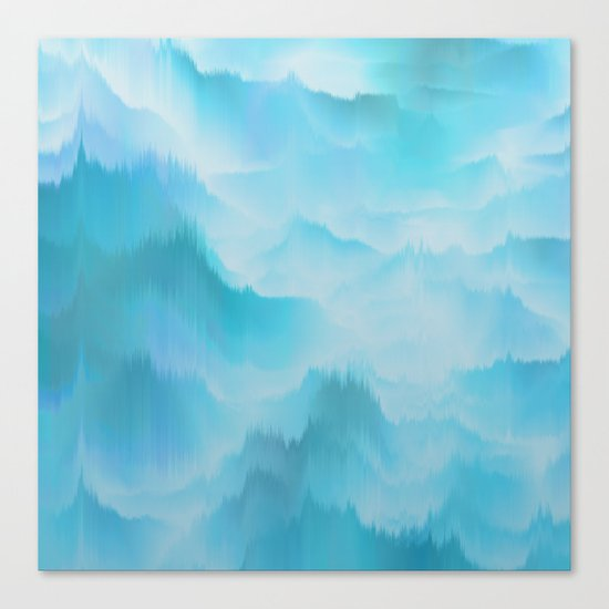 Clouds and mountains. Abstract. Canvas Print