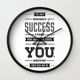 Lab No. 4 The Only Certain Og Mandino Inspirational Quotes Wall Clock