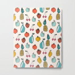 Tutti Fruit - Cream by Andrea Lauren Metal Print