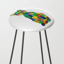 Rainbow Cat Counter Stool