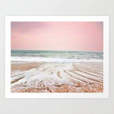Pink as the ocean Art Print