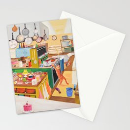 A Cat in the Kitchen Stationery Cards