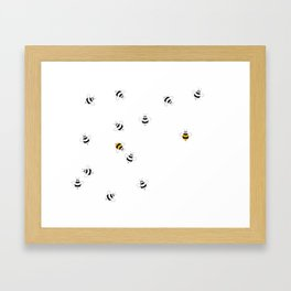 Bees images Playing Around Framed Art Print