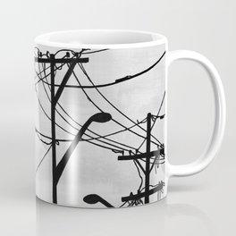 Industrial poles b&w Coffee Mug