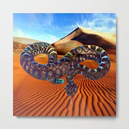 Old Man of the Desert (Rattlesnake) Metal Print