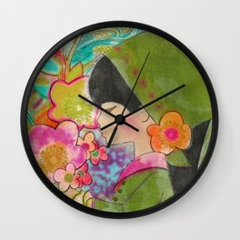 Flower Child Wall Clock