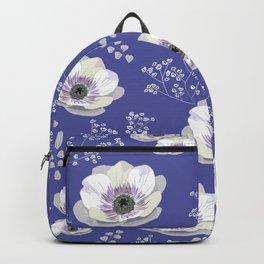 Anemones IV: blue pattern Backpack
