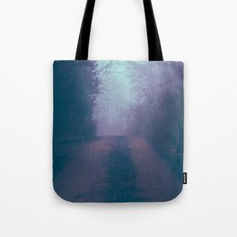 Foggy Road Tote Bag