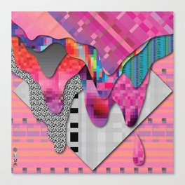 drippy pink Canvas Print