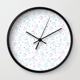 Classic Book Doodles Wall Clock