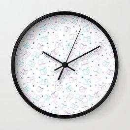Classic Book Doodles Wall Clock
