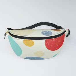 Multi coloured polka dots in pastel shades Fanny Pack