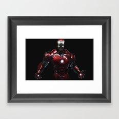 ipad iron man  Framed Art Print