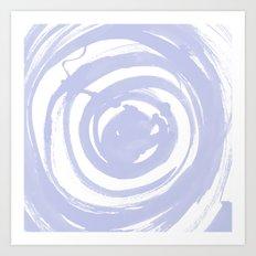 Swirl Pale Blue Art Print