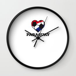 Paraguay Soccer Shirt 2016 Wall Clock