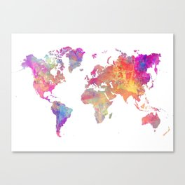 Map of the world #map #world Canvas Print