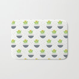 Potted Kalanchoe Plant Mom Pattern Bath Mat