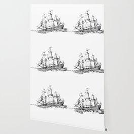 sailing ship . Home decor Graphicdesign Wallpaper