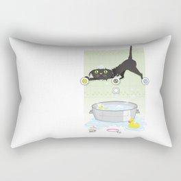 The kitty bath Rectangular Pillow