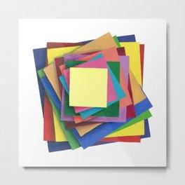 Paper Illusion Metal Print