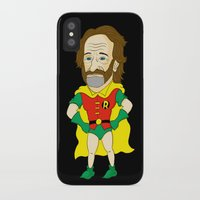 robin williams iPhone & iPod Cases featuring Robin as Robin by Chris Piascik