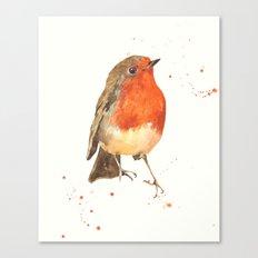 Robin, robin redbreast, songbird, garden birds, Christmas, hostess gift Canvas Print