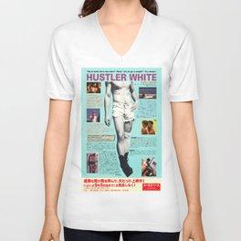 HUSTLER WHITE Unisex V-Neck