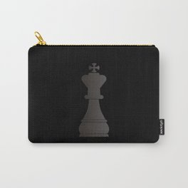 Black king chess piece Carry-All Pouch