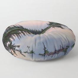 Summit Lake Colorado // Peaceful Alpine Sunset Floor Pillow