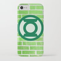 green lantern iPhone & iPod Cases featuring Green Lantern by DeBUM