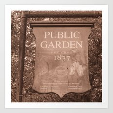 Public Garden Art Print