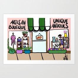 Antiques and Boutiques Art Print