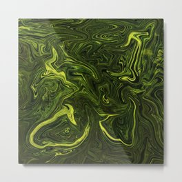 Dark green forest abstract pattern Metal Print
