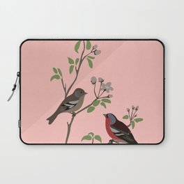 Peaceful harmony in the cherry tree - Illustration Laptop Sleeve