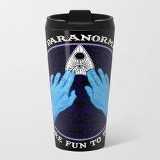 Me & Paranormal You - James Roper Design - Ouija (white lettering) Metal Travel Mug