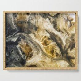 Purgatory Watercolor Abstract Painting Serving Tray
