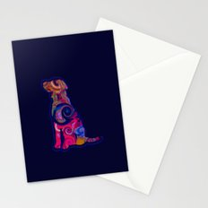 Psychedelic Dog Stationery Cards