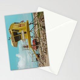 T7 Lifeguard Station Kapukaulua Beach Paia Maui Hawaii Stationery Cards