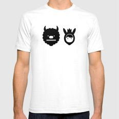 Carol & Max White SMALL Mens Fitted Tee