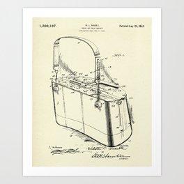 Creel or Trout Basket-1921 Art Print