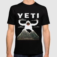 Yeti Black Mens Fitted Tee 2X-LARGE