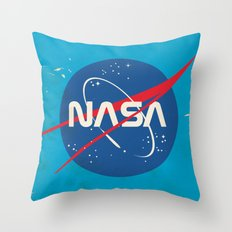 Enlist to become an Astronaut! Vintage nasa poster Throw Pillow