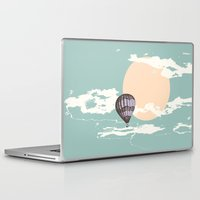 hot air balloon Laptop & iPad Skins featuring Hot Air Balloon by mattholleydesign