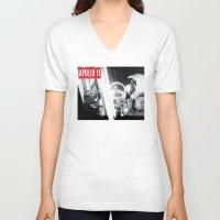 apollo V-neck T-shirts featuring Apollo Tee by DvasaDva