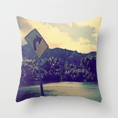GET LOST on NORTH SHORE  Throw Pillow